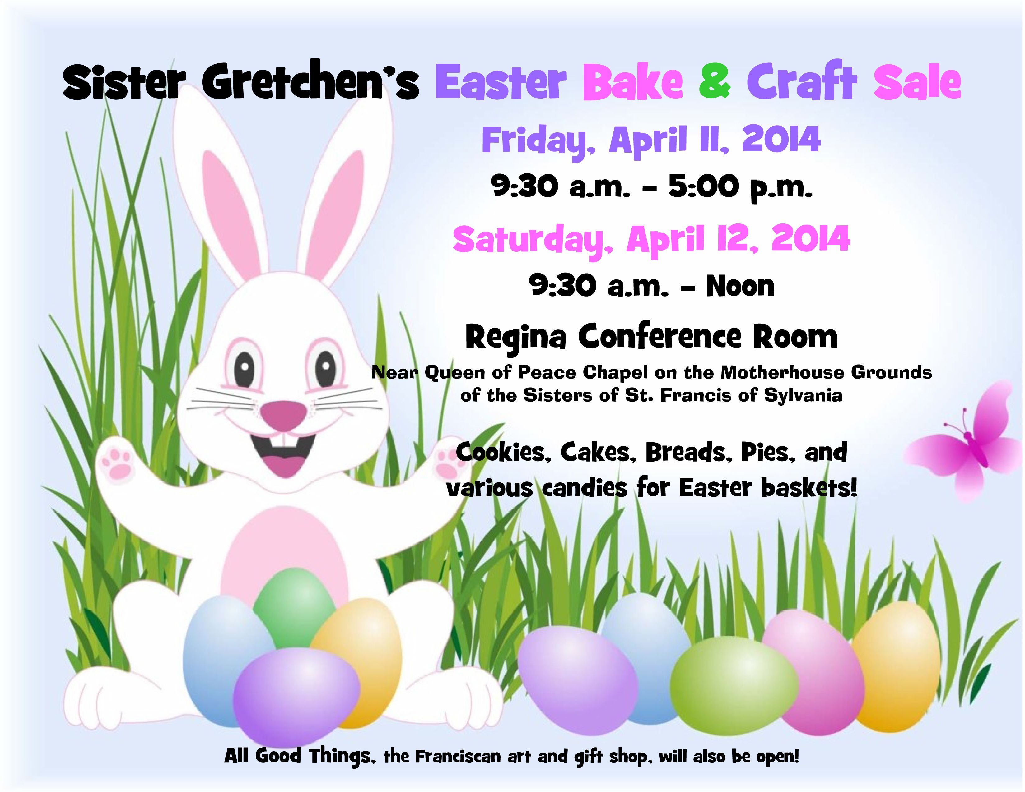 Easter Bake Sale April 2014a